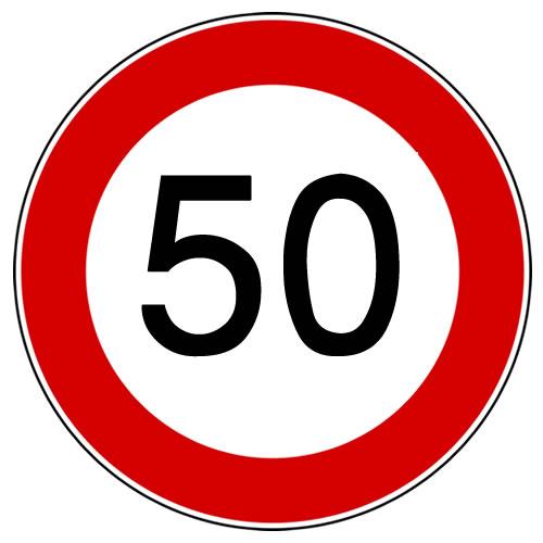 Limite Massimo di Velocità 50 - Officine Tortora Store