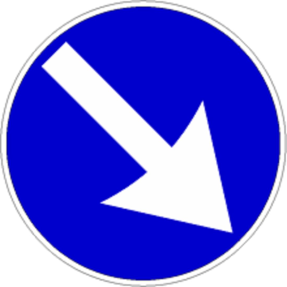 Segnale Di Obbligo Passaggio Obbligatorio A Destra Officine