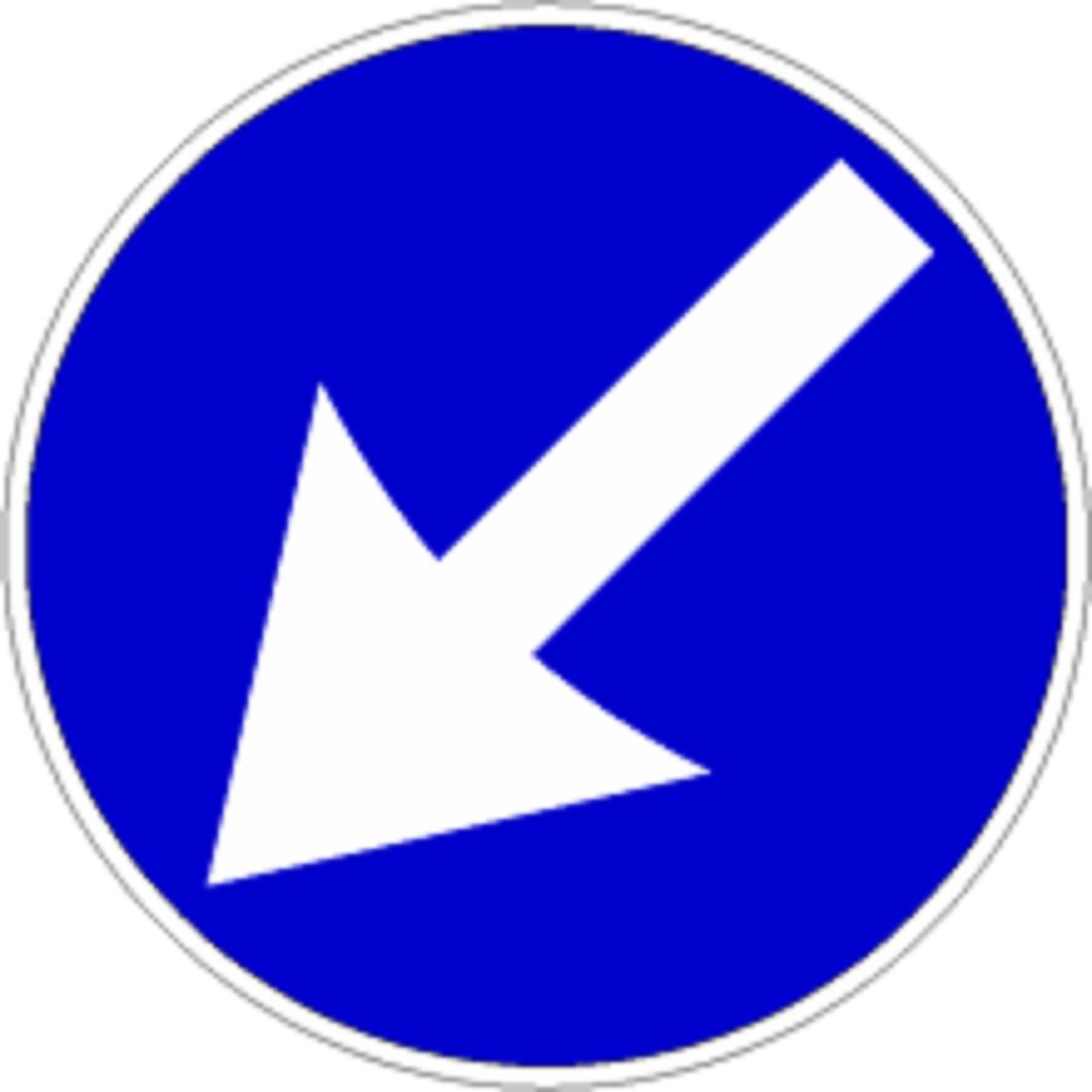 Segnale Di Obbligo Passaggio Obbligatorio A Sinistra Officine